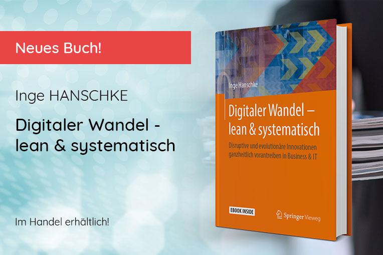 "Inge Hanschke: ""Digitaler Wandel - lean & systematisch"" © 2021 Springer Vieweg Verlag"