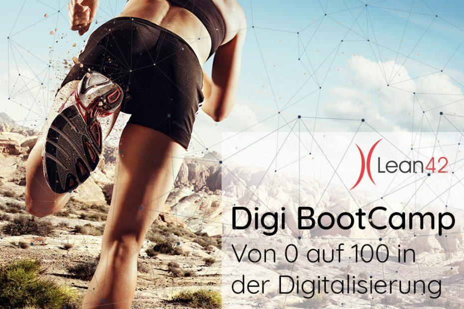 Neuer Lean42 Workshop: Digi BootCamp - Von 0 auf 100 in der Digitalisierung