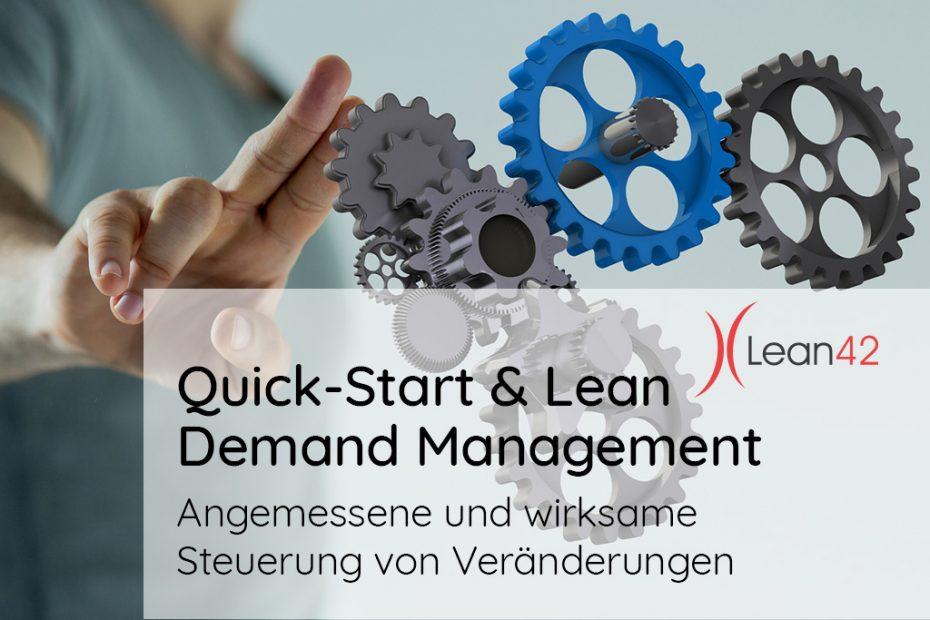 Quick-Start & Lean Demand Management Angemessene und wirksame Steuerung von Veränderungen