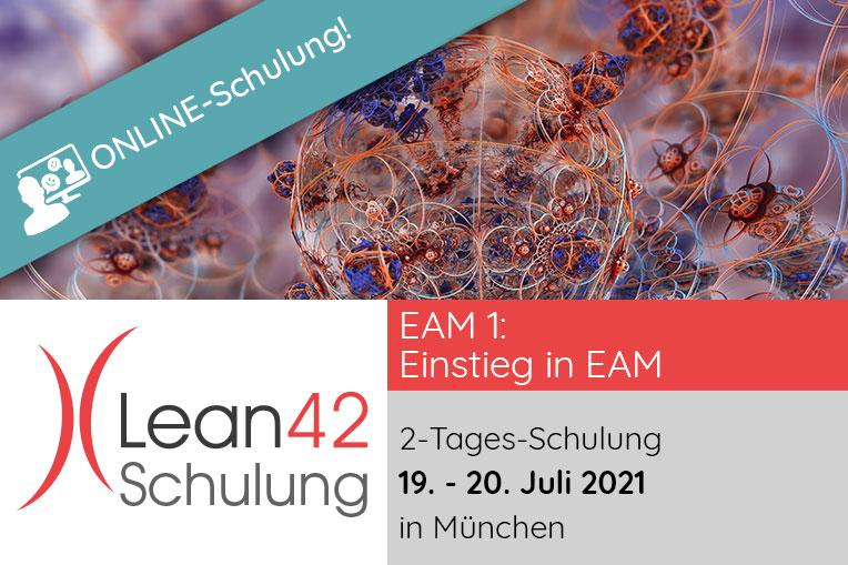 Lean42 GmbH Schulung: Einstieg in EAM (EAM 1) am 19. -. 20.07.2021